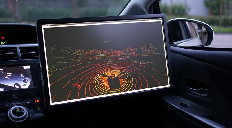 Видео: беспилотный автомобиль Яндекс.Такси в зимней Москве