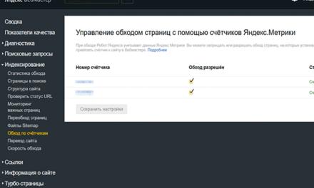 Интеграция Метрики и Вебмастера: переобход URL